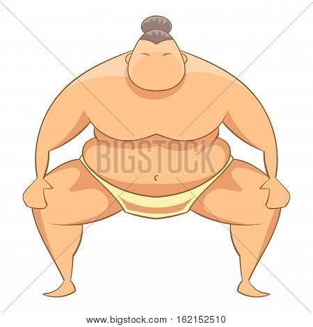 Sumo wrestler icon. Cartoon illustration of sumo wrestler vector icon for web