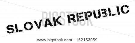 Slovak Republic rubber stamp. Grunge design with dust scratches. Effects can be easily removed for a clean, crisp look. Color is easily changed.