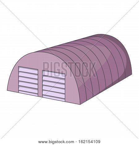 Semicircular hangar icon. Cartoon illustration of semicircular hangar vector icon for web