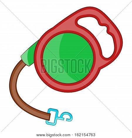 Retractable leash for dog icon. Cartoon illustration of retractable leash for dog vector icon for web