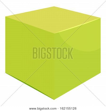 Cube icon. Cartoon illustration of cube vector icon for web