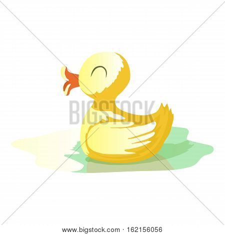 Yellow duck icon. Cartoon illustration of yellow duck vector icon for web design