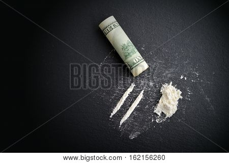 Cocaine Drug Addiction.