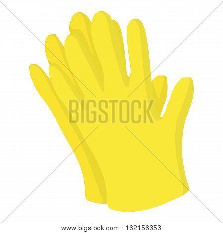 Garden gloves icon. Cartoon illustration of garden gloves vector icon for web design