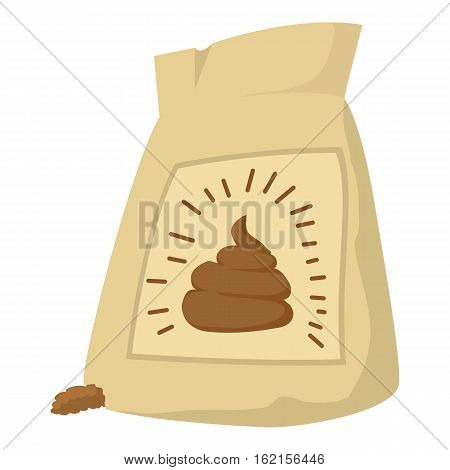 Fertilizer bag icon. Cartoon illustration of fertilizer bag vector icon for web design