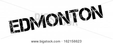 Edmonton rubber stamp. Grunge design with dust scratches. Effects can be easily removed for a clean, crisp look. Color is easily changed.