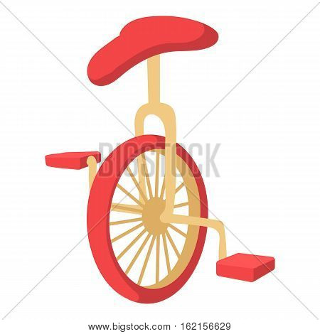 Unicycle icon. Cartoon illustration of unicycle vector icon for web design
