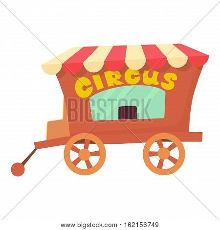 Circus wagon icon. Cartoon illustration of circus wagon vector icon for web design