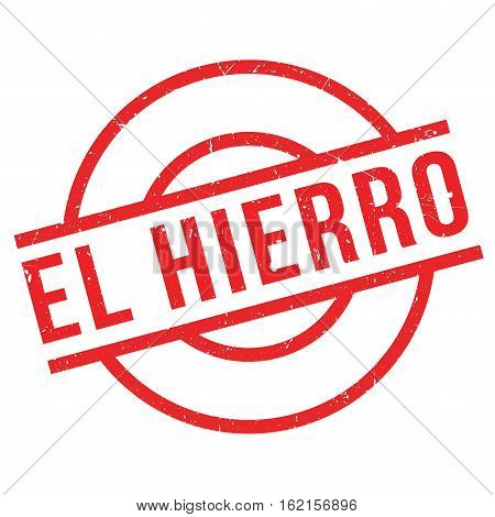 El Hierro rubber stamp. Grunge design with dust scratches. Effects can be easily removed for a clean, crisp look. Color is easily changed.