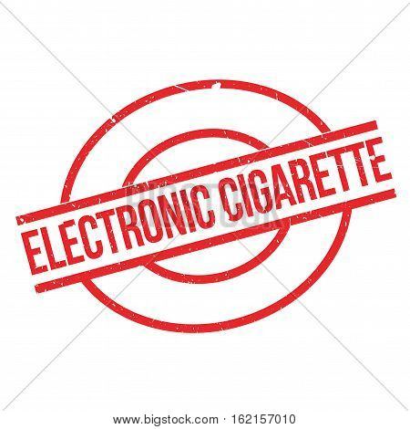 Electronic Cigarette rubber stamp. Grunge design with dust scratches. Effects can be easily removed for a clean, crisp look. Color is easily changed.