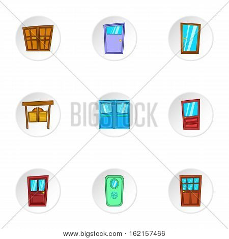 Barrier icons set. Cartoon illustration of 9 barrier vector icons for web