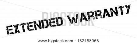 Extended Warranty rubber stamp. Grunge design with dust scratches. Effects can be easily removed for a clean, crisp look. Color is easily changed.
