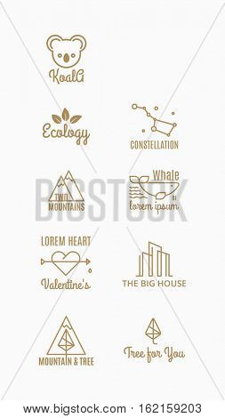 nine trend vector logo of the hipster style