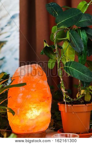 Red Light Salt Lamp