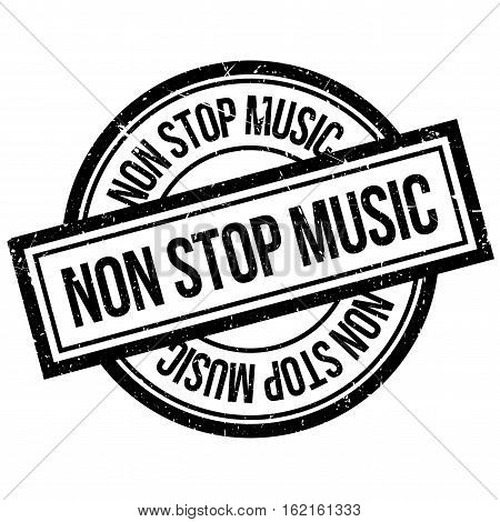 Non Stop Music rubber stamp. Grunge design with dust scratches. Effects can be easily removed for a clean, crisp look. Color is easily changed.
