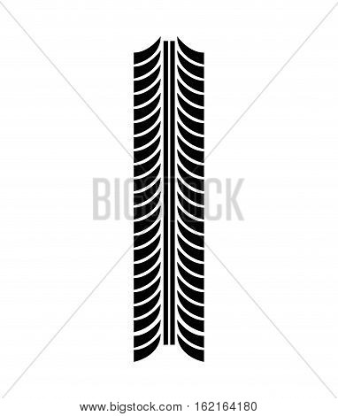 tire tracks mark isolated icon vector illustration design