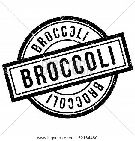 Broccoli rubber stamp. Grunge design with dust scratches. Effects can be easily removed for a clean, crisp look. Color is easily changed.