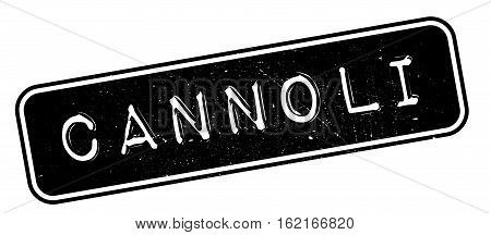 Cannoli rubber stamp. Grunge design with dust scratches. Effects can be easily removed for a clean, crisp look. Color is easily changed.