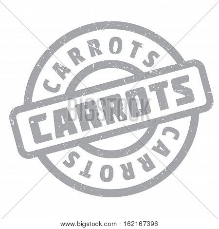 Carrots rubber stamp. Grunge design with dust scratches. Effects can be easily removed for a clean, crisp look. Color is easily changed.