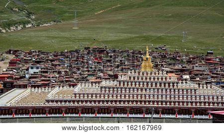 Yarchen Gar Monastery In Garze, China