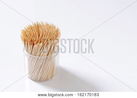 Wood. Toothpicks In A Box