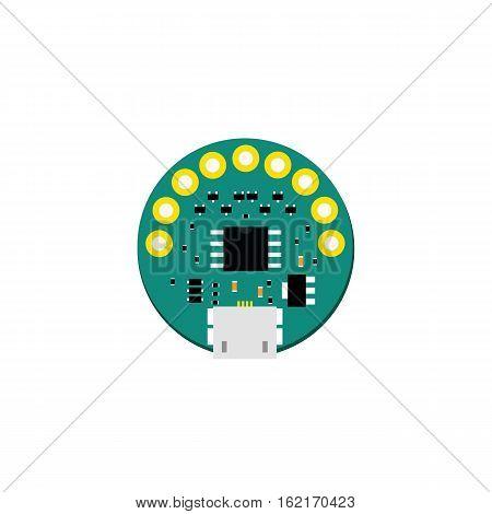Diy Electronic Mini Board With A Microcontroller