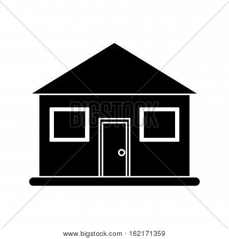 silhouette real state house lifestyle vector illustration eps 10