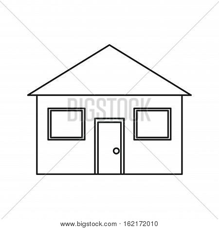 real state house lifestyle outline vector illustration eps 10