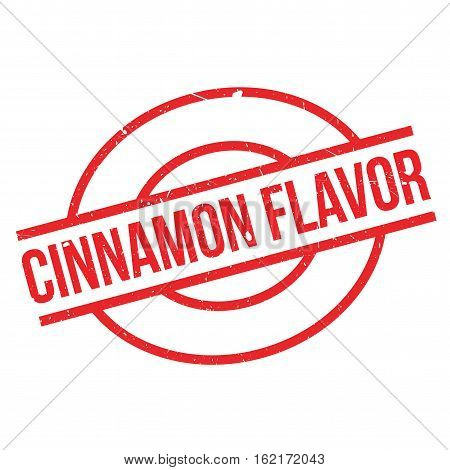 Cinnamon Flavor rubber stamp. Grunge design with dust scratches. Effects can be easily removed for a clean, crisp look. Color is easily changed.