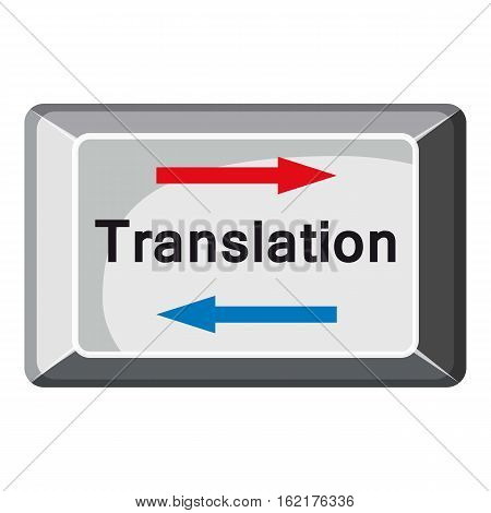 Translate button icon. Cartoon illustration of translate button vector icon for web design