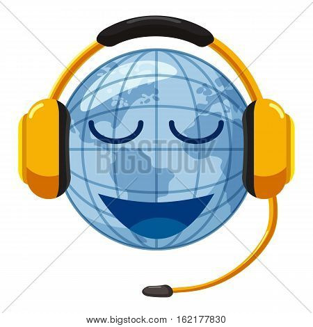 Translate world icon. Cartoon illustration of translate world vector icon for web design
