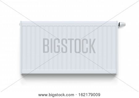 illustration of white color heating radiator with shadow on white background