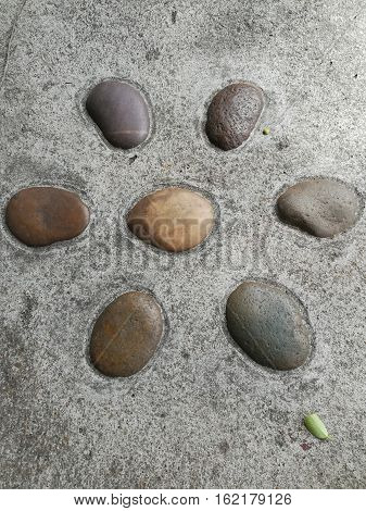 stone ground texture, rocks background for landscaping