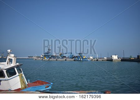 Dock in the center of veracruz mexico