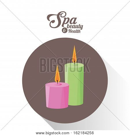 spa beauty and health aroma candles brown background vector illsutration eps 10