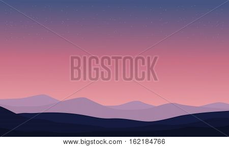 Vector illustration of desert backgrounds collection stock