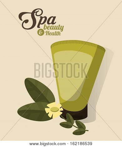 spa beauty and health body lotion cosmetic vector illustration eps 10