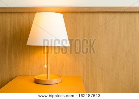 Lamp on bedside