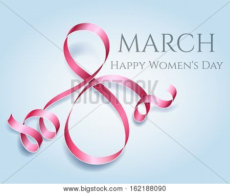 Womens day 8 march element. Woman international celebration vector template