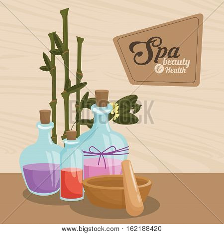 spa beauty and health aroma therapy bamboo vector illustration eps 10