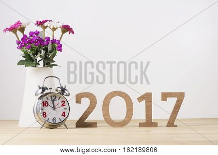Happy New Year. Sigh Symbol From Number 2017