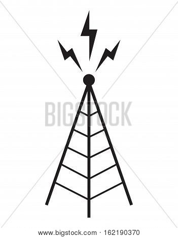 radio tower antenna communication mast vector illustration eps 10