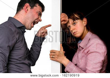 Unhappy Couple Arguing And Do Not Understand Each Other