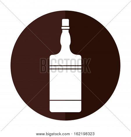 bottle whiskey expensive liquor shadow vector illustration eps 10