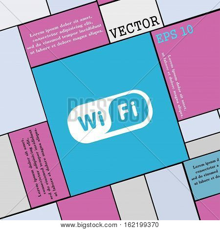 Wireless Network Icon Sign. Modern Flat Style For Your Design. Vector