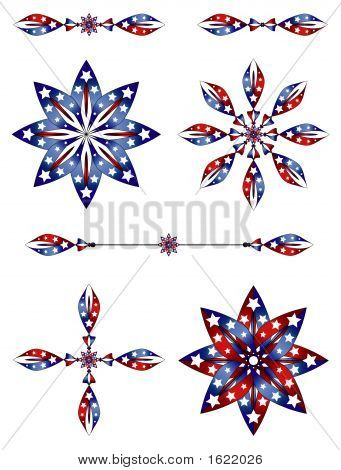 This very unique design was created with white stars red and blue stripes on a white background. There are seven graphics. poster