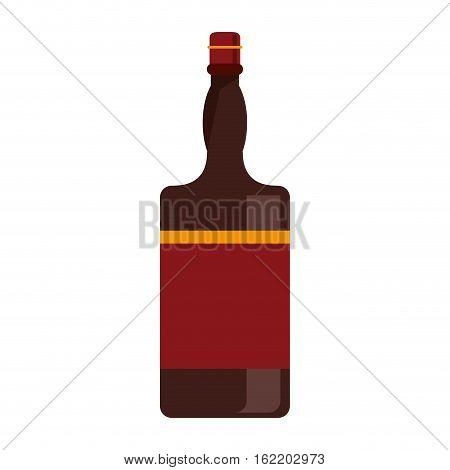 bottle whiskey expensive liquor vector illustration eps 10