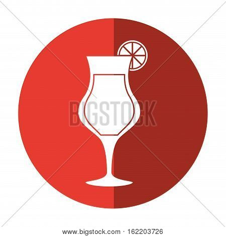 cocktail glass cup alcoholic beverage shadow vector illustration eps 10