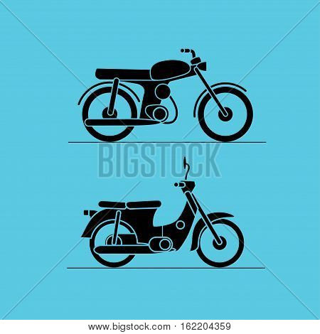 motorbike icons, isolated vector illustration design logos