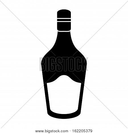 silhouette bottle cream whiskey liqueur icon drink vector illustration eps 10
